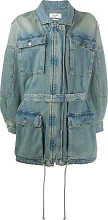 Isabel Marant Jaqueta jeans Guila com cinto - Azul