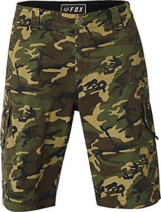 Fox Mens Slambozo Standard Fit 22 Canvas Cargo Short, Green Camo, 29