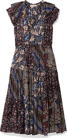 Ulla Johnson Asis Printed Cotton And Silk-blend Midi Dress - Indigo