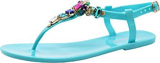 Saute Styles Ladies Womens Diamante Sliders Summer Beach Jelly Shoes Flip Flop Sandals Size 7