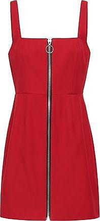 665117cbc9e Nicholas Nicholas Woman Zip-detailed Twill Mini Dress Red Size 6