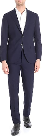 Boglioli Dark blue virgin wool suit