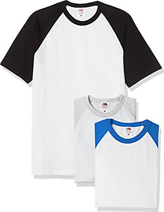 Fruit Of The Loom 3 Pack Baseball Short, T-Shirt Homme, Multicoloured Black 3ecb77d52fc4