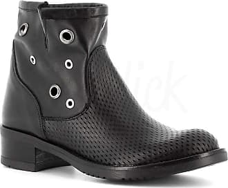Generico Generic Made in Italy Leather Boot with Eyelets - Black Black Size: 8 UK