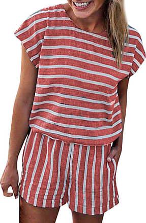 JERFER Women Short Sleeve Backless Playsuit Ladies Summer Beach Shorts Jumpsuit Playsuit Jumpsuit Romper
