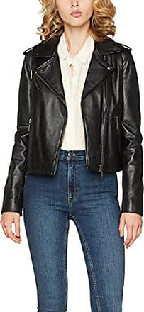 Blouson cuir Look Venus Tommy Hilfiger en noir pour femme