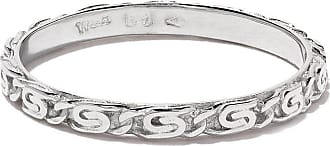 Wouters & Hendrix 18kt white gold Snail Diamond Chain ring