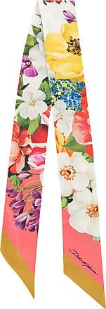 Dolce & Gabbana Seidenschal mit Blumen-Print - Rot