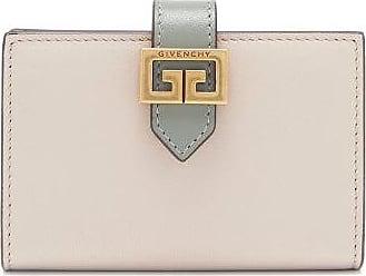 Givenchy Gv3 Logo-buckle Leather Bi-fold Cardholder - Womens - Beige Multi