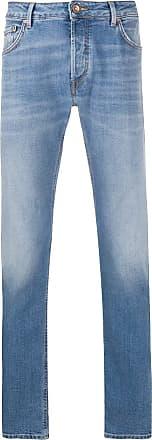 Hand Picked Calça jeans slim Ravello com cintura média - Azul