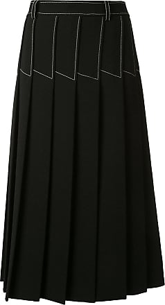 Dion Lee column pleated midi skirt - Black