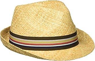 f0c24aef2efd2 Henschel Mens Hand Woven Soft Raffia Straw Fedora with Striped Band