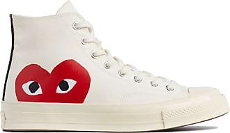 Comme Des Garçons X Converse Rotes Herz Chuck Taylor All Star 70 High White Schuhe - white | 5.5 uk - White/White