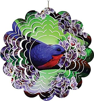 Great World Company StealStreet 610002 12 Blue Bird with Flowers Metal Painted Wind Spinner
