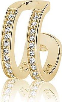 Sif Jakobs Jewellery Ear cuff Simeri Due - 18K vergoldet mit weißen Zirkonia