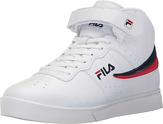 Fila Mens Vulc 13 Mid Fashion Sneakers White/Navy/Red D(M) US, White/Fila Navy/Fila Red-150, 12 D(M) US