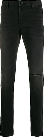 John Varvatos ripped detail trousers - Preto