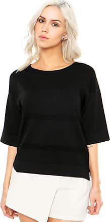 Finery Blusa Finery London Benmore Knitted Tee Preta