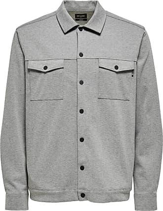 Only & Sons Comfort Stretch Overshirt - Lyse Grå