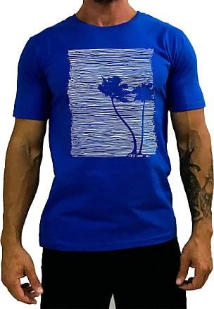 MXD Conceito Camiseta Tradicional Masculina MXD Conceito Floresta Coqueiro Paraiso (Azul, GG)