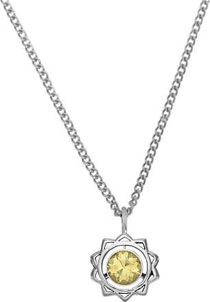 Zoe & Morgan Silbergelbe Saphir-Solarplexus-Chakra-Halskette - One Size - Yellow/Silver