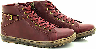 Boulevard Cipriata Ladies Lace to Toe Ankle Strap Boots - Burgundy PU, Ladies UK 5 / EU 38