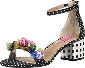 Betsey Johnson Womens LULU Heeled Sandal Black/Multi 7.5 M US
