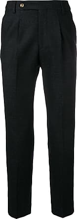 Entre Amis creased tapered trousers - Preto