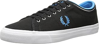 Fred Perry Mens Kendrick Tipped Cuff Canvas Fashion Sneaker,Black,7 UK/8 M US
