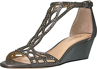 Imagine Vince Camuto Womens Jalen Wedge Sandal, Anthracite, 5.5 Medium US