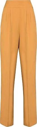 USISI SISTER high-waisted slim-leg trousers - Marrom
