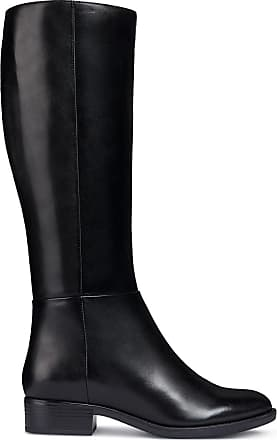bottines noires plates geox