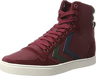 Hummel Slimmer Stadil Duo Canvas High, Sneakers Hautes Mixte Adulte, Rouge  (Cabernet) 5b8f9eac1dfb