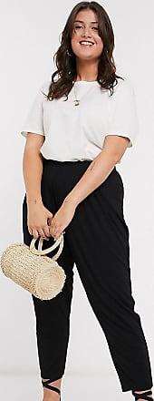Asos Curve ASOS DESIGN Curve basic jersey peg trouser-Black