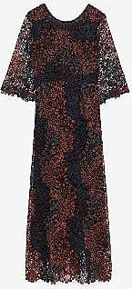 ottod'Ame Durchbrochene Spitze langes Kleid - polyester | 36