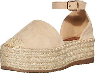 Yoki Womens SUE Flat Sandal, Beige, 5.5 UK