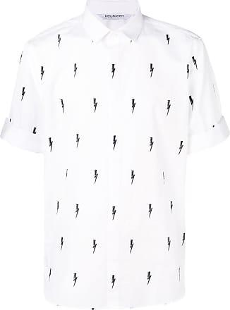 Neil Barrett thunder print shirt - Branco