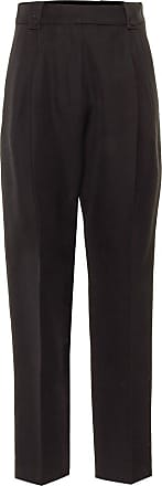 Paco Rabanne High-rise slim wool pants