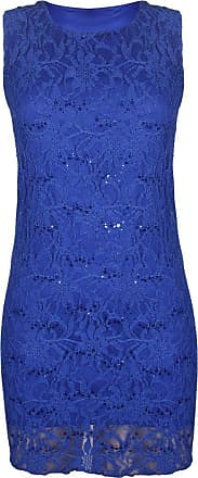 Purple Hanger New Womens Floral Lace Sleeveless Scoop Neckline Ladies Layer Lined Sequin Evening Dress Plus Size Royal Blue Size 20 - 22