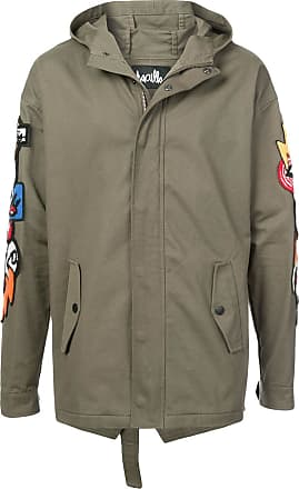 Haculla Hacmania patch hooded coat - Green