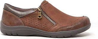 Earth Spirit RIVERSIDE Ladies Womens Suede Leather Lace Up Walking Shoes Bark
