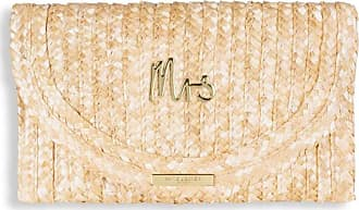 Katie Loxton Coco Clutch - Mrs - Large Straw Clutch - Metallic Gold