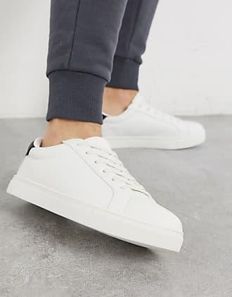 Brave Soul Weiße Sneaker mit kontrastierendem Schwarz