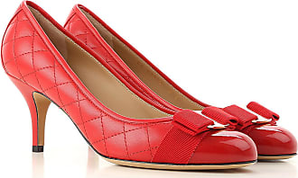 3aaa3925d6539 Salvatore Ferragamo Zapatos de Tacón de Salón Baratos en Rebajas, Lapiz  Labial, Piel,