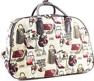 Craze London SALE SALE Ladies Travel Holdall Bags Hand Luggage Womens Design Print Weekend Wheeled Trolley Bag (Fashion Elements)