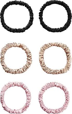 Slip Set Of Six Skinny Silk Hair Ties - Metallic
