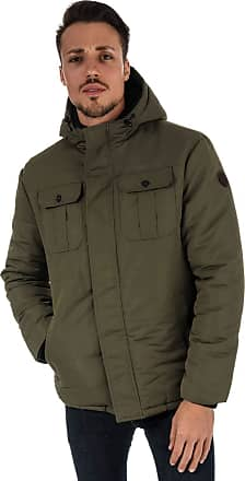 Crosshatch Black Label Mens Mens Beekham Hooded Parka Jacket in Green - M