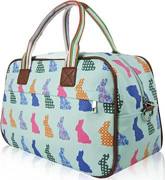 Your Dezire Ladies Womens Rabbit Print Maternity Day Overnight Bag Travel Hand Luggage New UK Turquoise