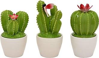 Three Hands Ceramic Cactus Jar - Set of 3 - 64082