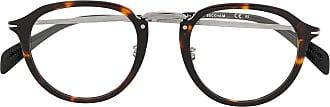 David Beckham Armação de óculos com efeito tartaruga DB 1014 - Marrom